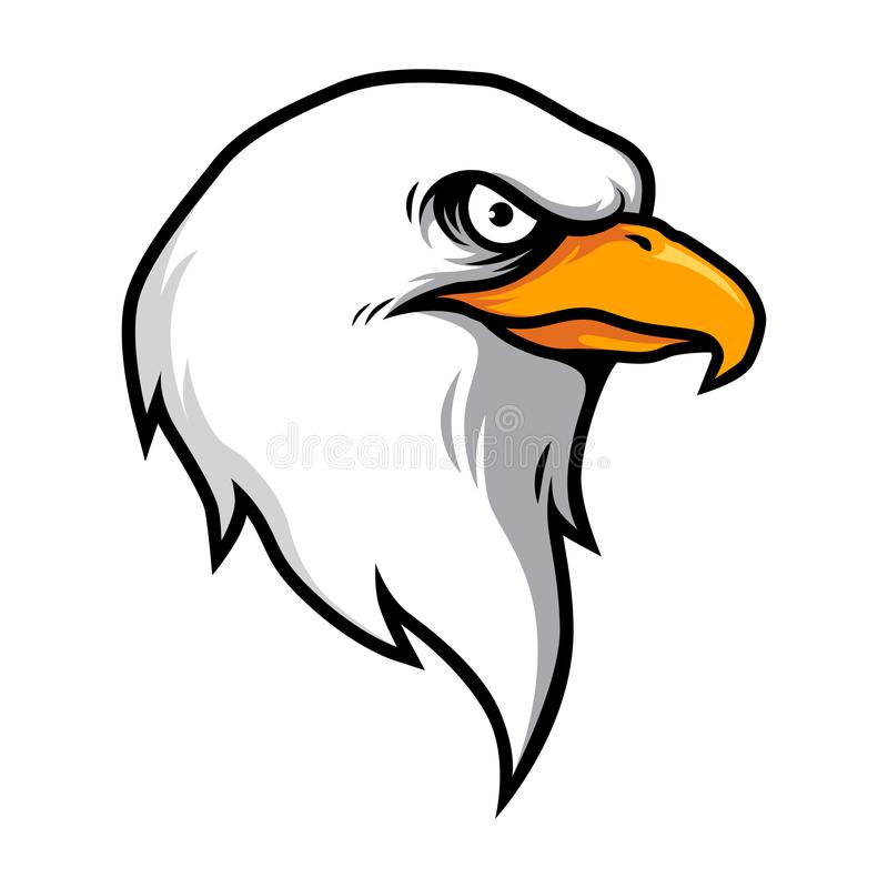 Eagle Head Illustration Vector stock de ilustración
