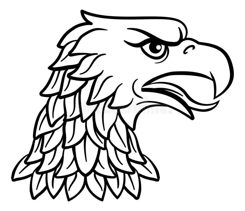 Eagle Head Imperial Heraldic Symbol royalty-vrije illustratie