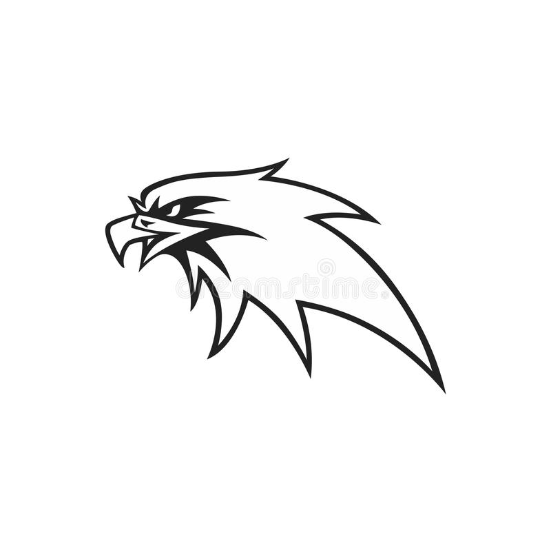 Eagle Head Logo Vetora Design preto e branco, sinal, ícone, ilustração ilustração do vetor