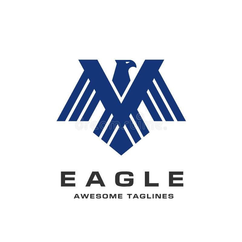 Eagle head logomallen, logo för hökmaskotdiagram vektor illustrationer