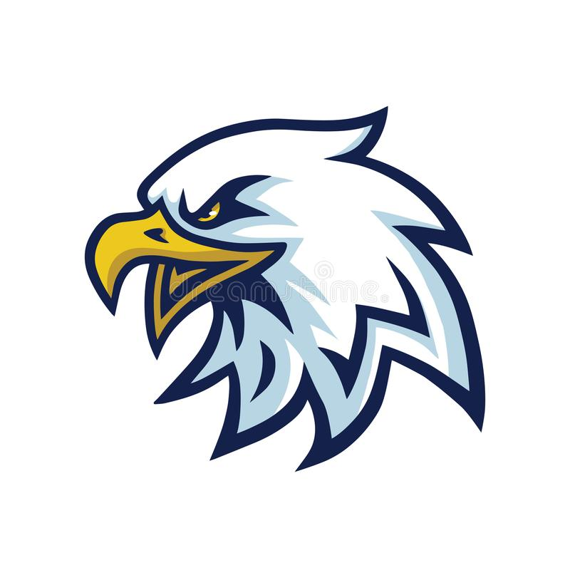 Eagle Head Mascot Logo Template stock illustrationer