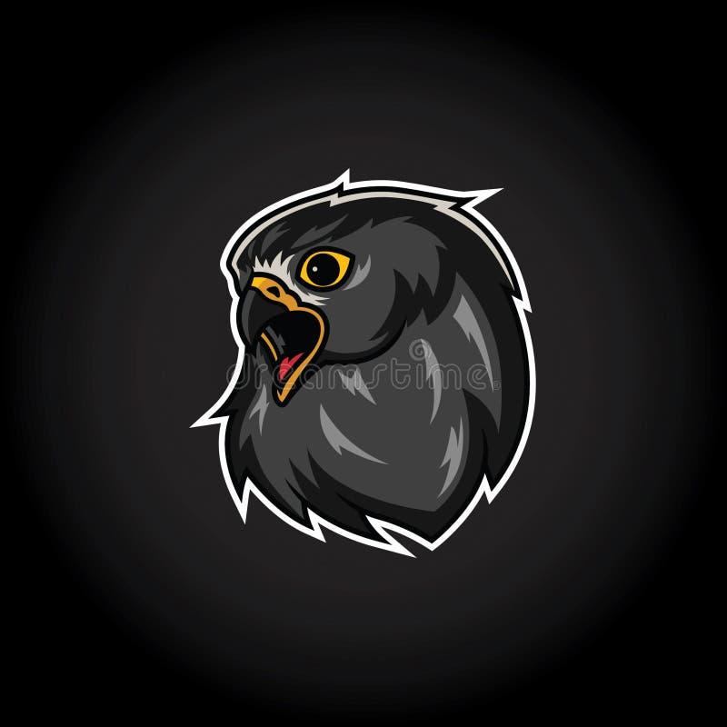 Eagle Head Mascot Logo Template royaltyfri illustrationer