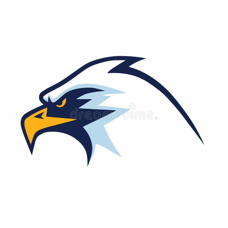 Eagle Head Mascot Sports Team Logo Template vektor illustrationer