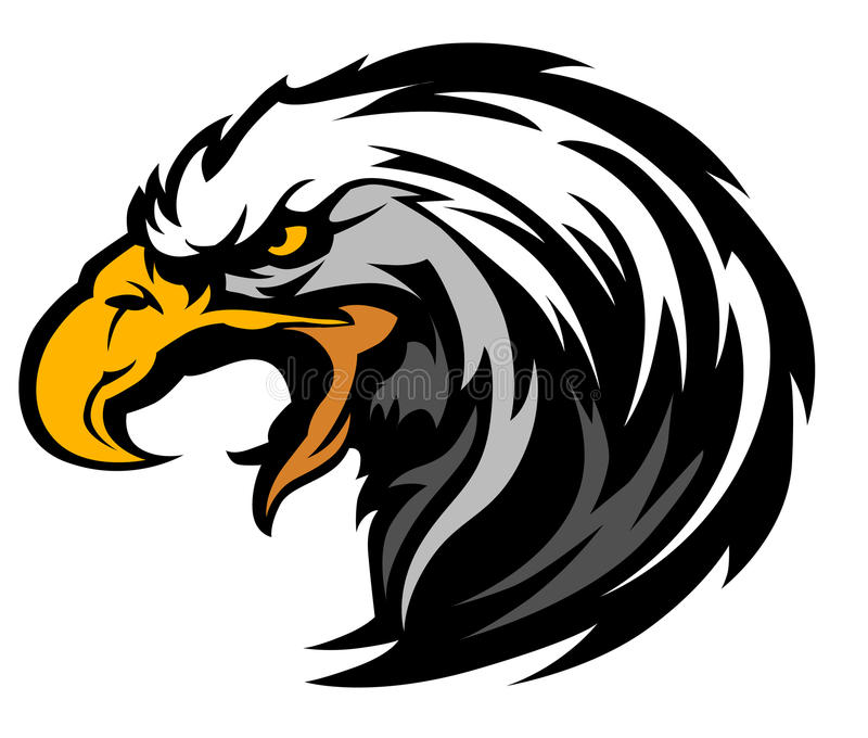 eagle head mascot vector logo stock vector illustration