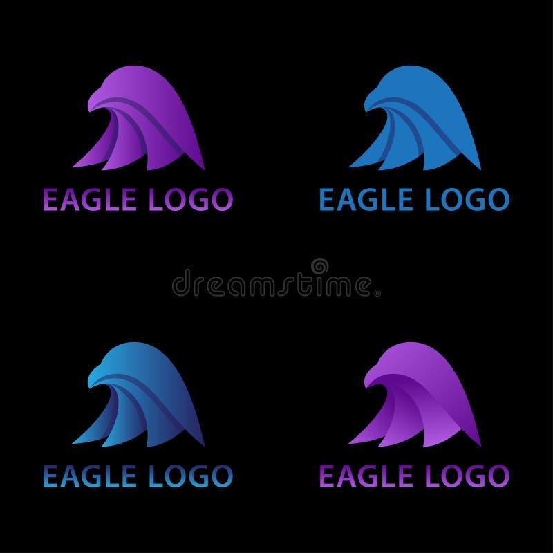 Eagle Head Pictograph Concept Logo ilustração royalty free