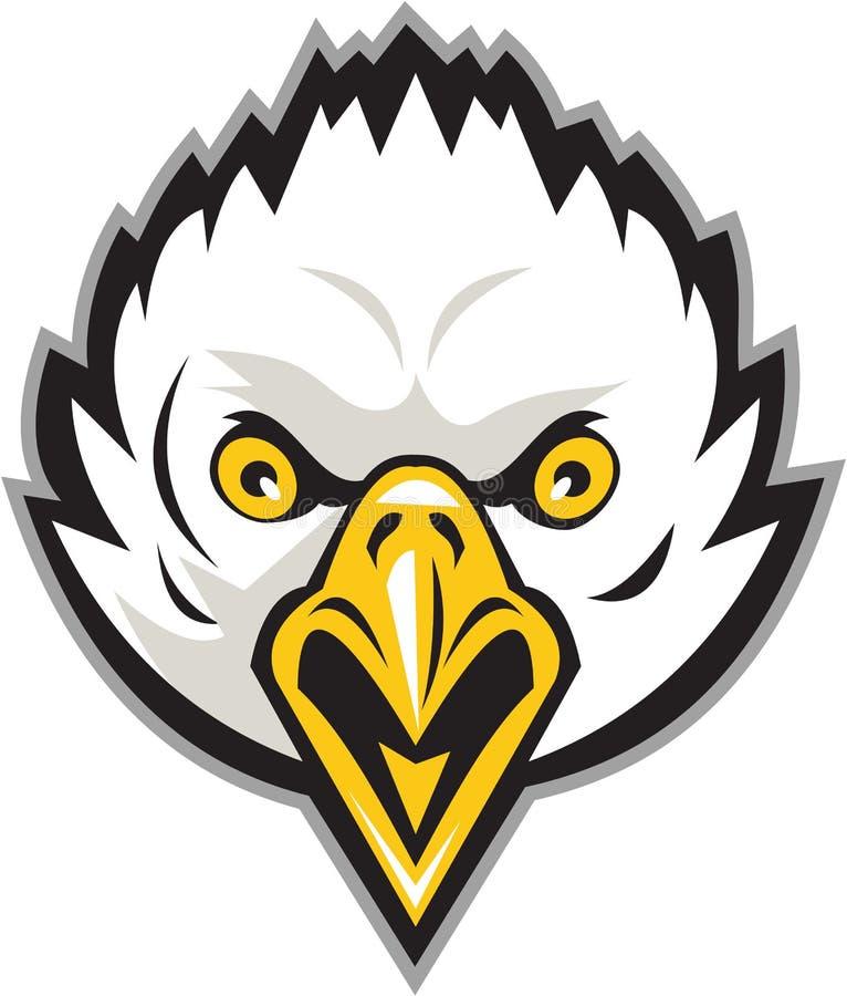 Eagle Head Screaming Retro calvo americano ilustração do vetor