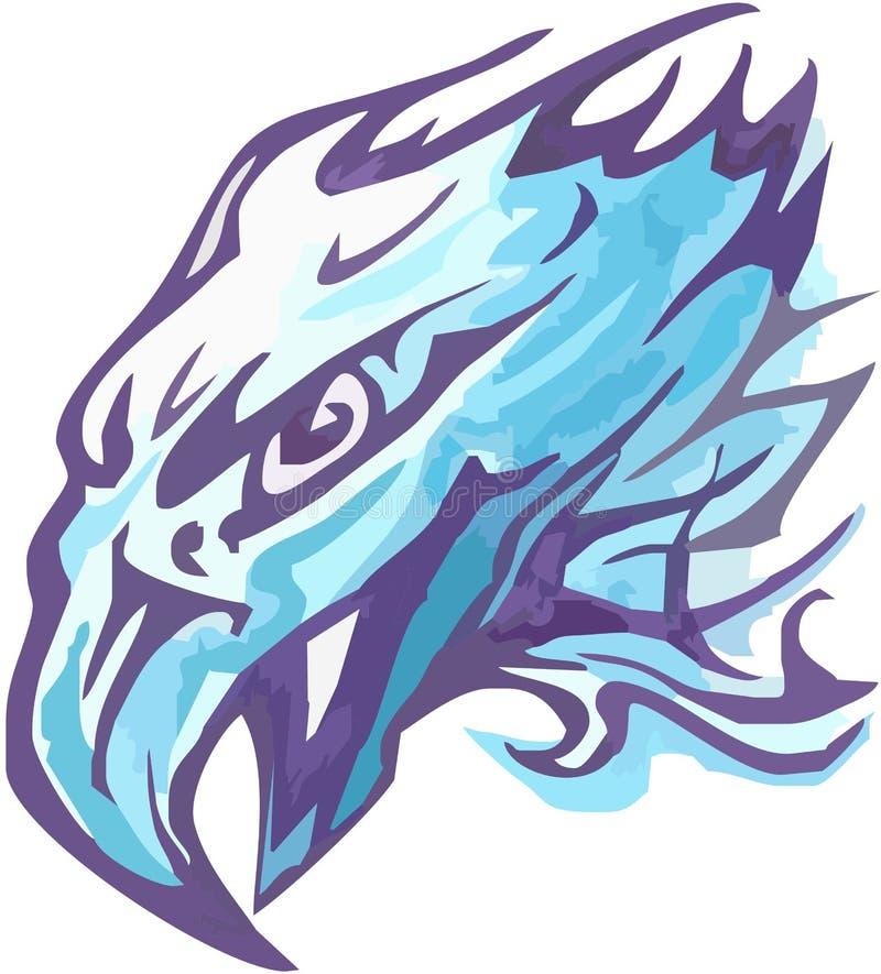 Eagle head symbol vector design in blue colors vector illustration