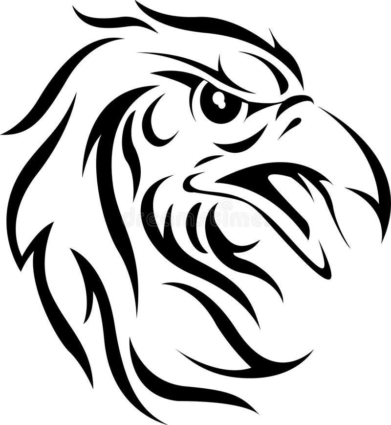 Eagle head tattoo royalty free stock photography