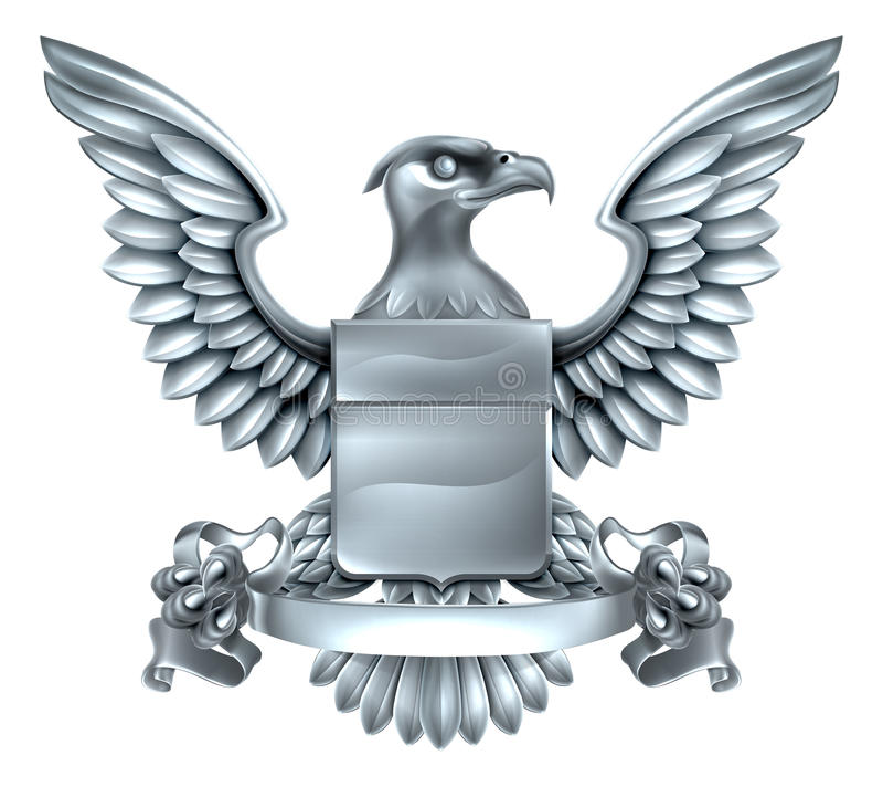 Eagle Heraldry Design ilustração royalty free