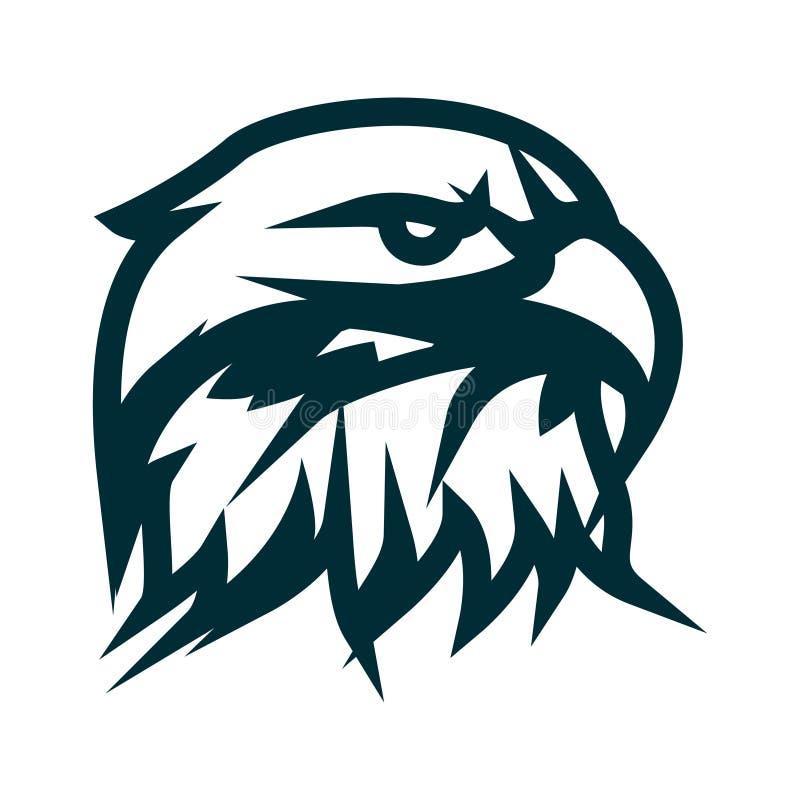 Eagle-het embleemontwerp van de lijnkunst Hoofd het overzichts vectorillustratie van Eagle Hoofd minimalistisch het pictogramontw vector illustratie
