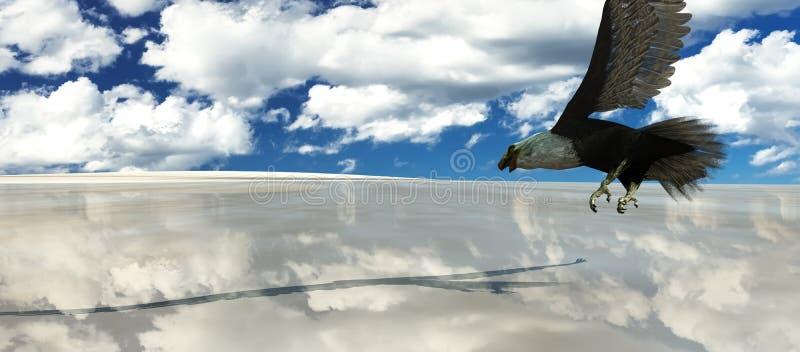 Eagle-het vliegen royalty-vrije illustratie