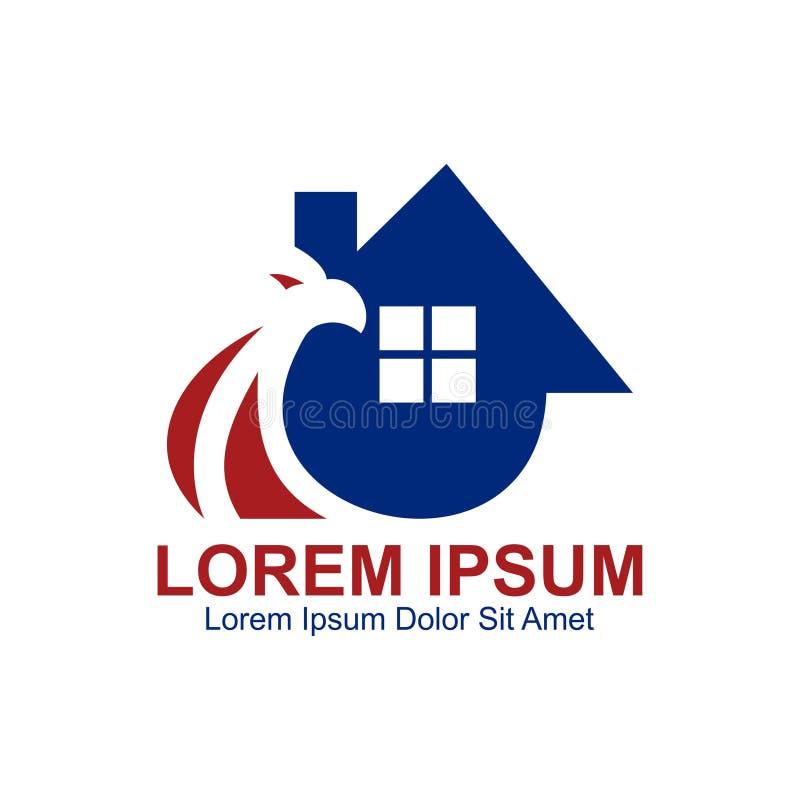 Eagle Home Builder Logo illustration de vecteur