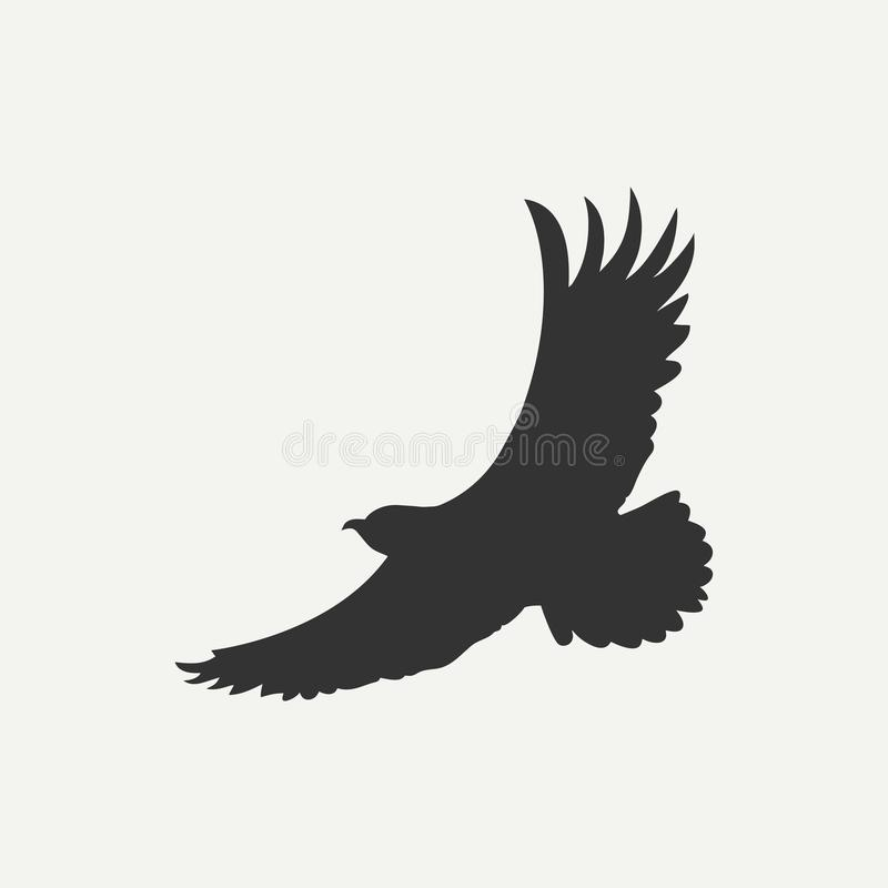 Eagle Icon Calibre de logo Oiseau de prédateur Vecteur illustration stock