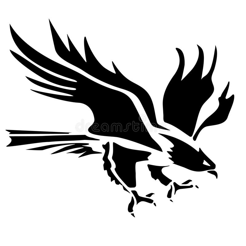 eagle icon illustration stock vector illustration of decoration rh dreamstime com Soaring Eagle Tattoo Tribal Eagle Tattoo