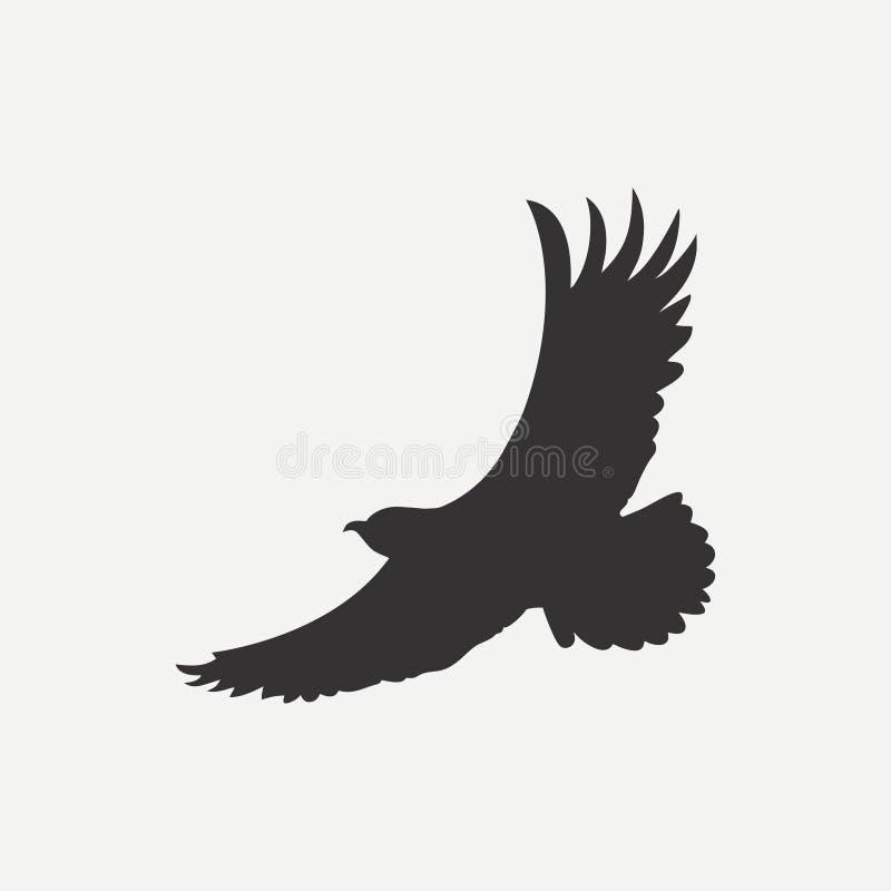 Eagle Icon Plantilla del logotipo Pájaro del depredador Vector stock de ilustración
