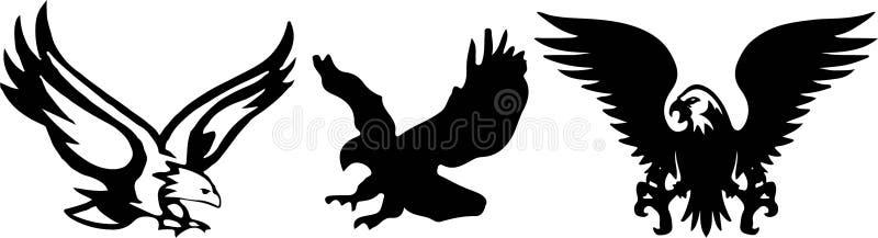 Eagle icon on white background stock illustration