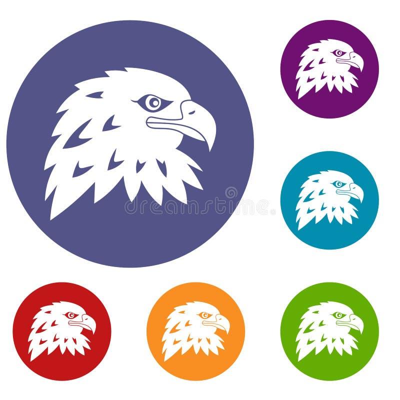 Eagle Icons Set stock illustrationer
