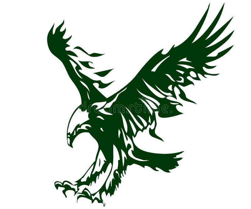 Eagle-illustratie voor merk en reclamespots royalty-vrije illustratie