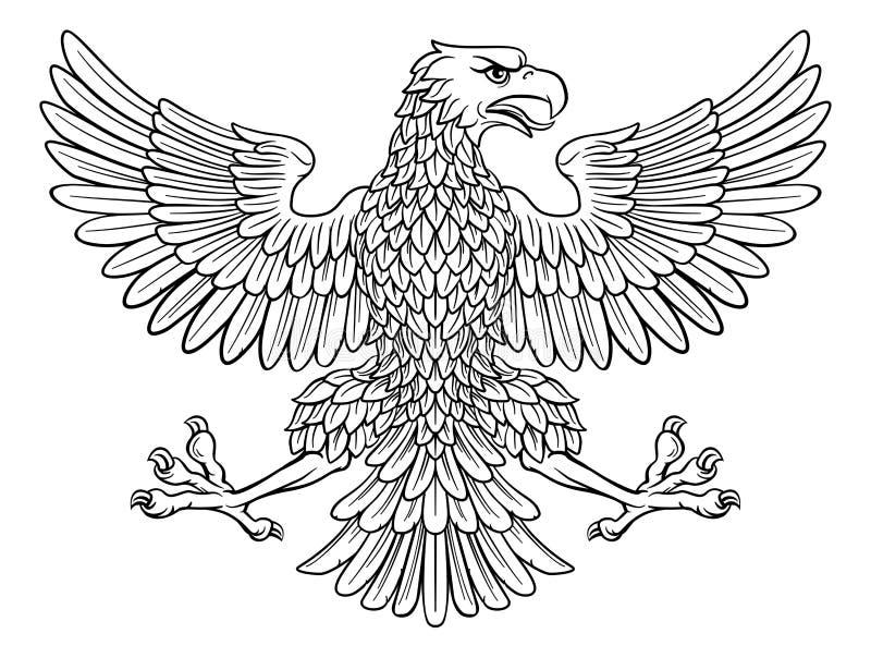 Eagle Imperial Heraldic Symbol vector illustratie