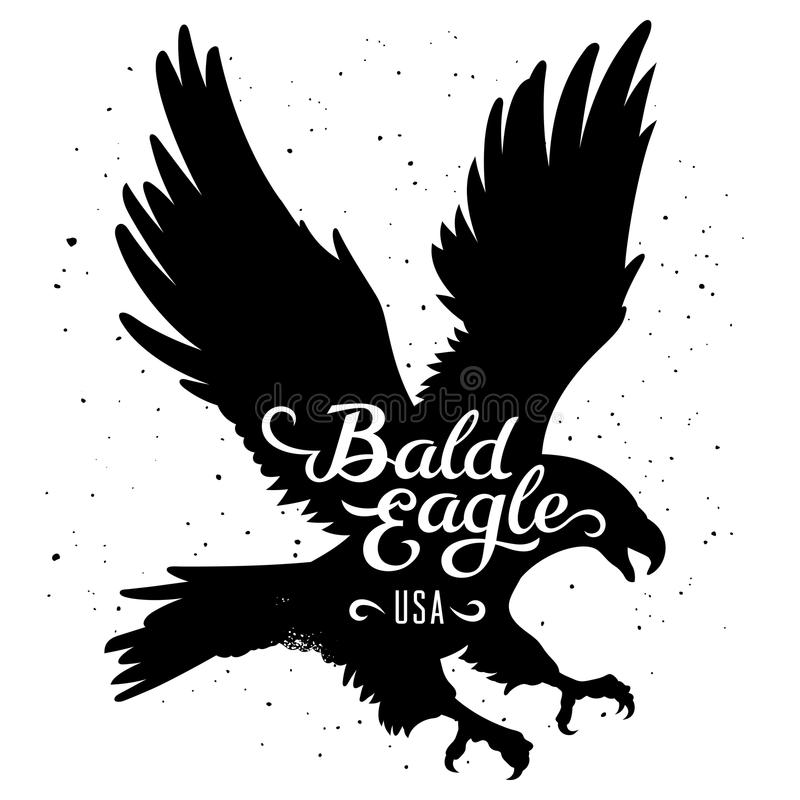 Eagle kontur 002 royaltyfri illustrationer