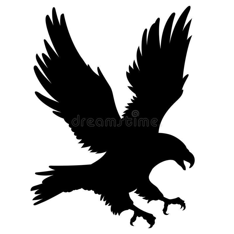 Eagle kontur 001 stock illustrationer
