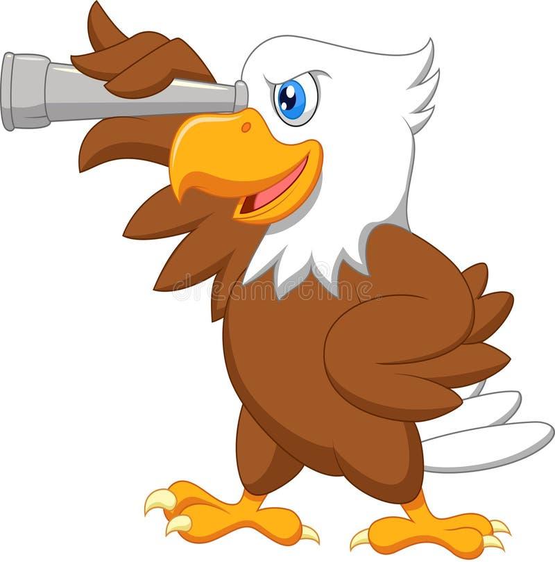 Eagle kreskówki dopatrywanie ilustracji