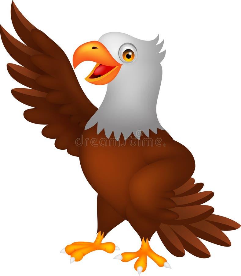 Eagle kreskówki falowanie ilustracja wektor