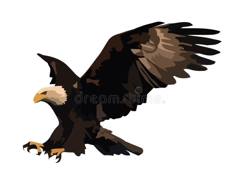 Eagle landa. stock illustrationer