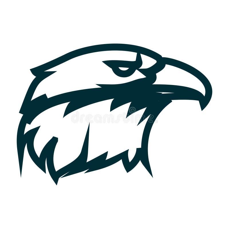 Eagle line art logo design. Eagle head outline vector illustration. Eagle head minimalist icon design. Vector line art with eagle head theme stock illustration
