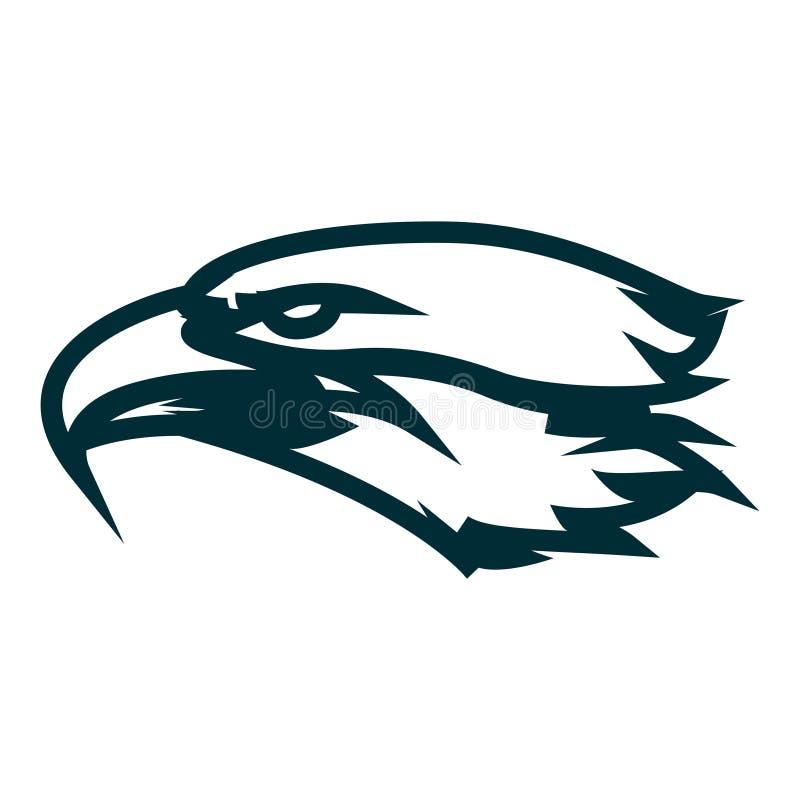 Eagle-Linie Kunstlogoentwurf Eagle-Kopfentwurfs-Vektorillustration Unbedeutender Ikonenentwurf Eagle-Kopfes vektor abbildung