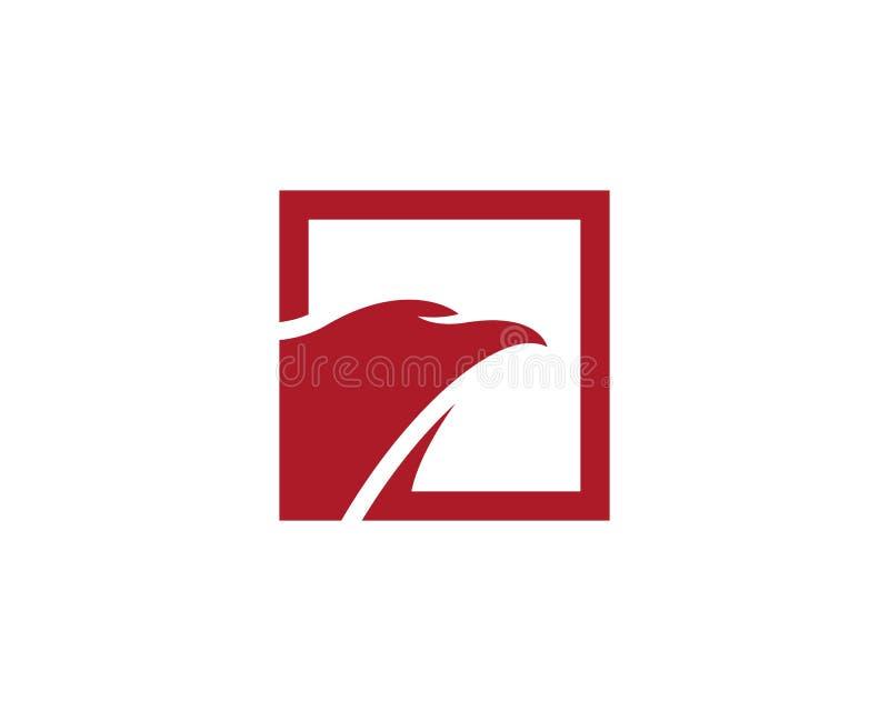 Eagle loga ptasi szablon ilustracji