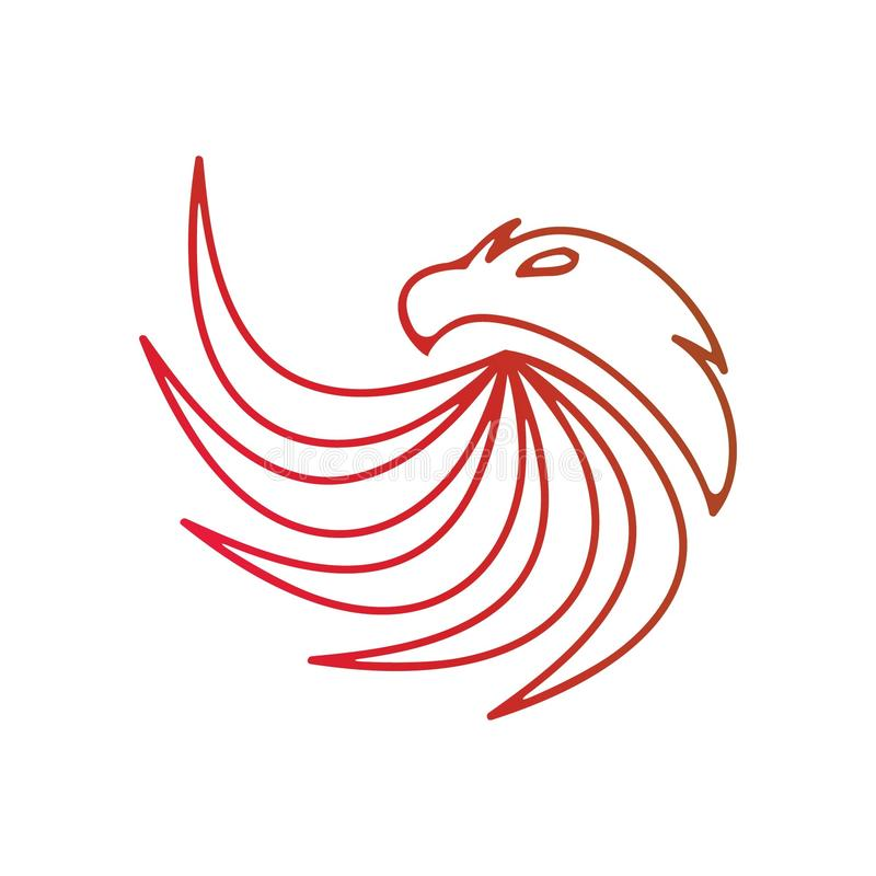Eagle logo royaltyfria bilder