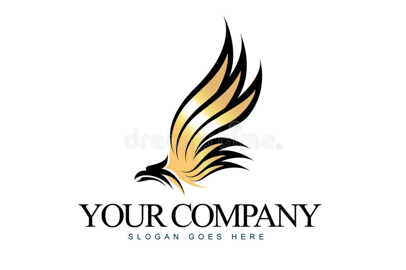 Eagle Logo. An illustration of a business company logo representing an abstract eagle