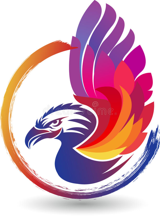 Eagle logo royaltyfri illustrationer