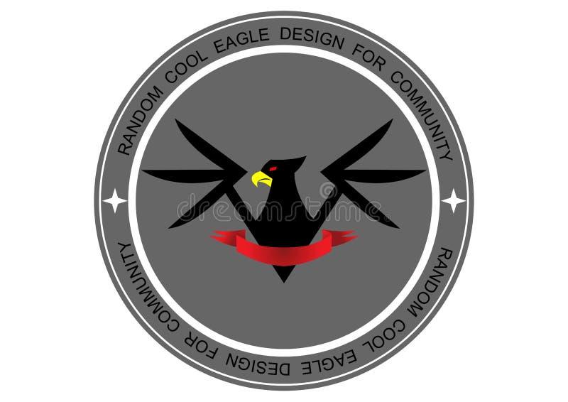 Eagle logo Chłodno dla społeczności zdjęcie royalty free