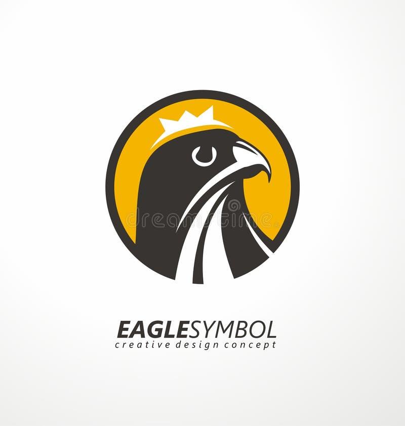 Eagle logo design. stock illustration