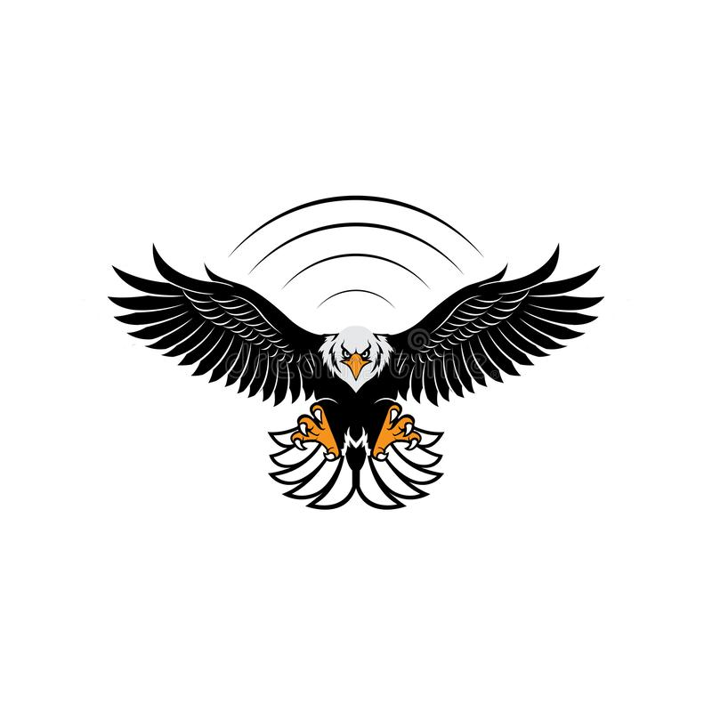 Eagle Logo Design Inspiration Vector ilustración del vector
