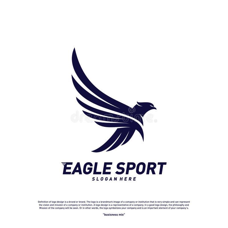 Eagle logo design vector. Birds logo concept vector template.  stock illustration