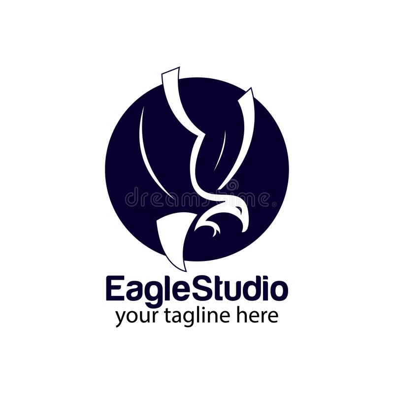 Eagle circle logo design template vector royalty free stock photo