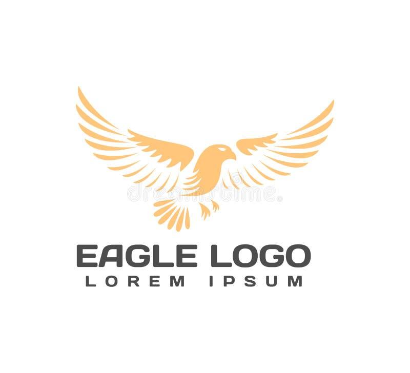 Eagle-Logo Eagle Icon Abschluss oben Falkelogo falke Elemente für Marke Identität Zustelldienstlogo Finanz- und Geschäfts-Serie stockfotos