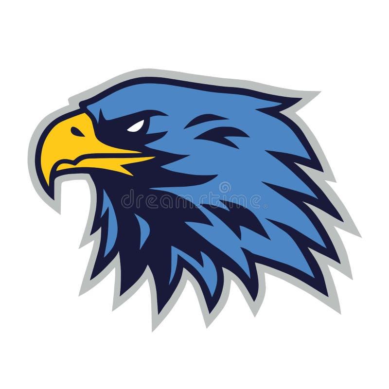 Eagle logo maskotki kreskówki Wektorowy szablon ilustracja wektor