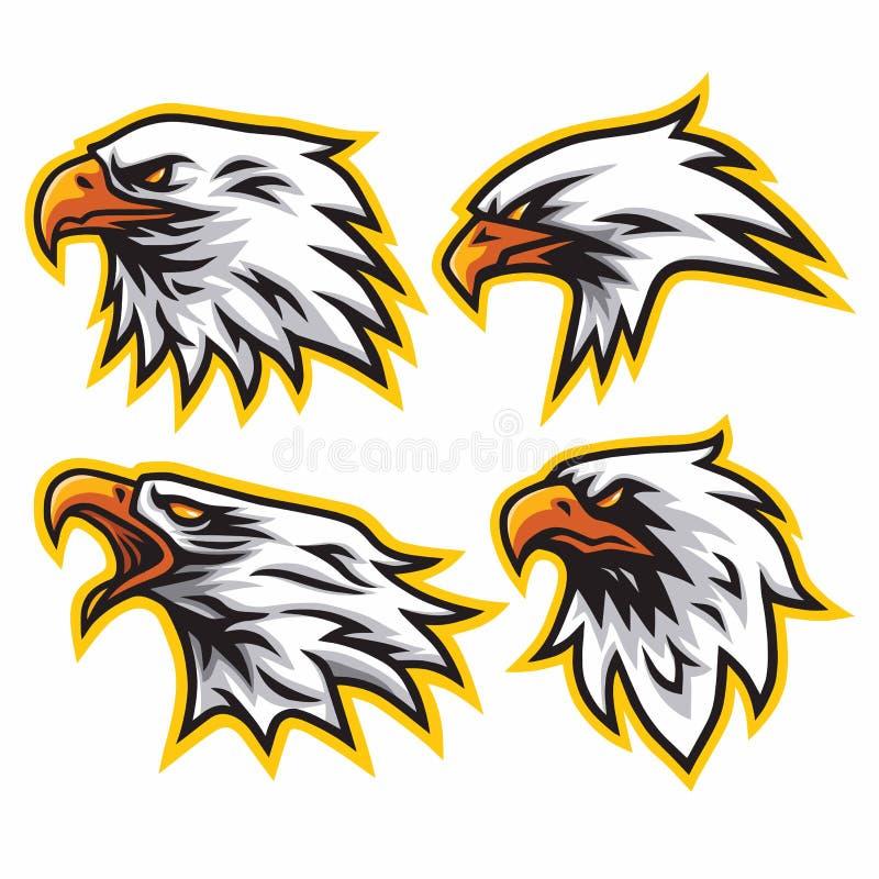 Eagle Logo Set Collection Vector Design vector illustratie