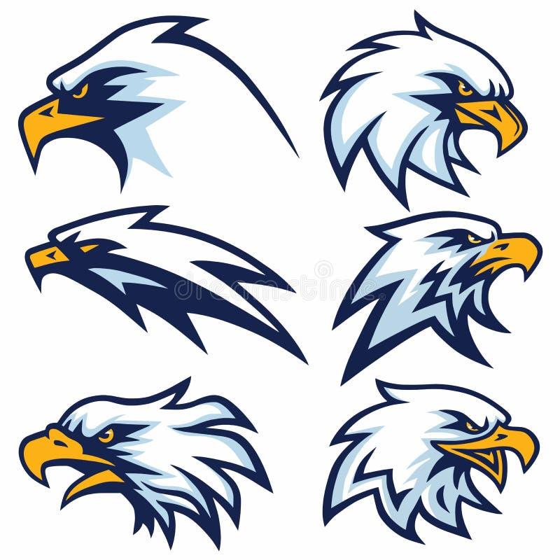 Eagle Logo Set Vector vektor illustrationer