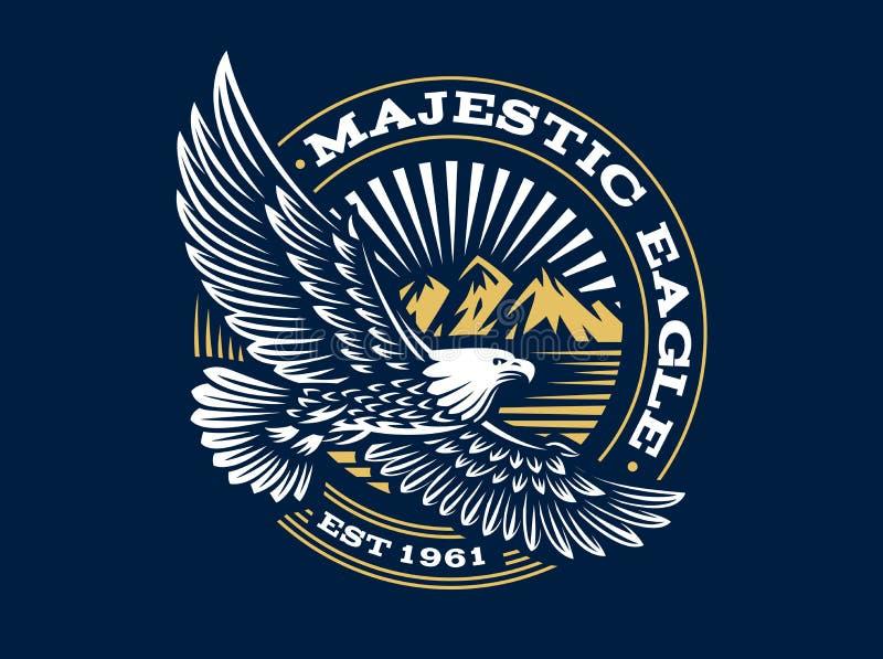 Eagle-Logo - vector Illustration, Emblem auf dunklem Hintergrund vektor abbildung