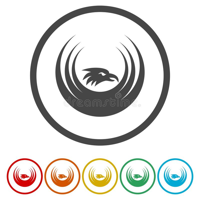 Eagle Logo vektor Logo Template stock illustrationer
