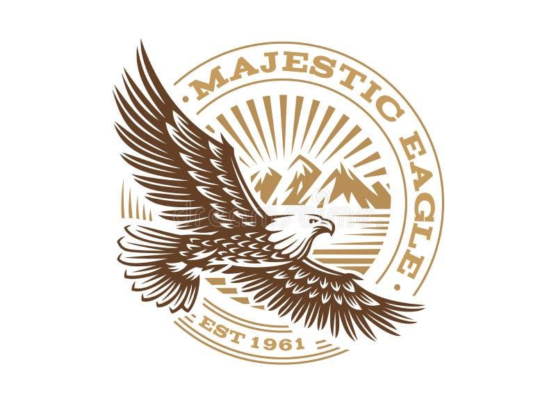 Eagle logo - wektorowa ilustracja, emblemat na białym tle ilustracja wektor