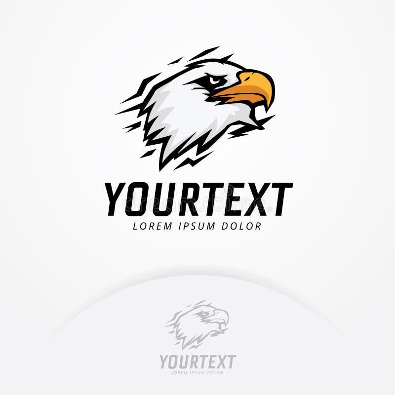 Eagle logomall vektor illustrationer
