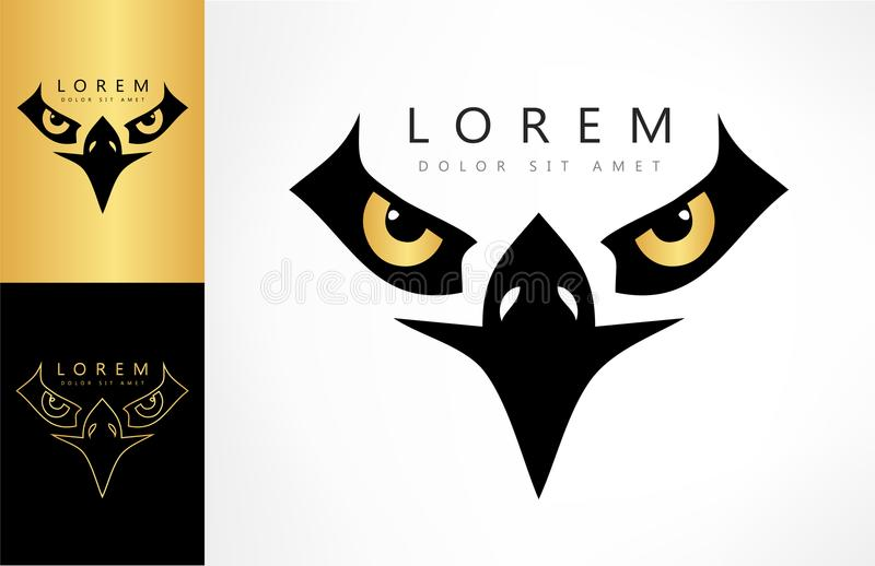 Eagle logovektor vektor illustrationer