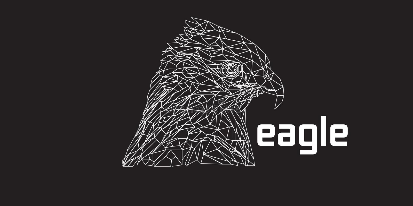 Eagle low poly royalty free stock image