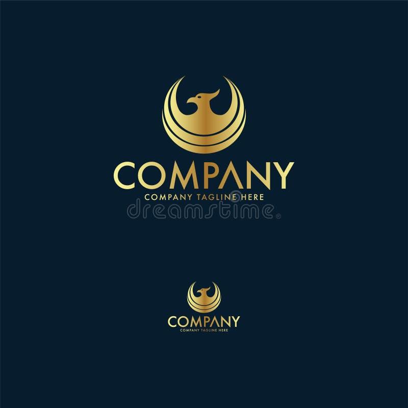 Eagle luxuoso ou Phoenix Logo Template ilustração royalty free